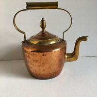 Vintage Beaten Copper & Brass Kettle Small Decorative Kitchenalia Cottage Decor