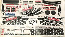 Sc10 Décalque sheet team associated association worlds car Factory short course autocollant