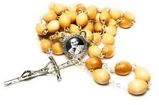 wood 3rd class relic rosary Pier Giorgio Frassati patron Students Catholics WYD