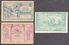Eizendorf (OÖ) -Gemeinde- 10 H, 20 H und 50 Heller (JP 170)