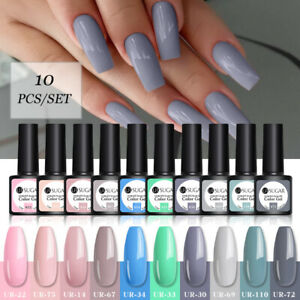 UR SUGAR UV Gel Polish Set 10 Colors Glitter Polish Soak Off Varnish 7.5ml