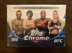 2019 Topps Chrome UFC Blaster Box Factory Sealed Exclusive Sepia Refractor QTY
