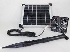 10 W Solarlüfter Fotovoltaik Photovoltaik Solar Belüfter Solarventilator NEU !