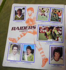 #T90. 1983  CANBERRA RAIDERS  RUGBY LEAGUE STICKERS ON ALBUM PAGE