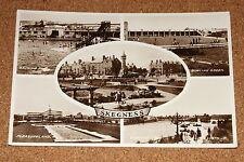 Vintage Postcard: Skegness, Pleasurel Land, Bathing Pool, Clock Tower & Rockery