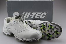 Hi-Tec Ladies CDT Comfort Golf Shoes White + Diamante Leather Upper 7.5 New