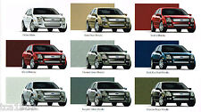 2006 Ford FUSION Brochure / Catalog with Color Chart: S,SE,SEL, V6, '06