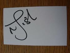 50's-2000's Autographed White Card: Fish, Mark - Bolton Wanderers, South Africa