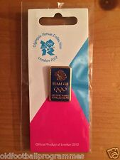 LONDON 2012 OLYMPICS TEAM GB GOLD LIONHEAD BLUE PIN BADGE VENUE COLLECTION