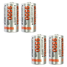 4 x C 9500mAh 1.2V NiMH Rechargeable Battery Ultracell