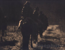 1900/72 Vintage EDWARD CURTIS Native American Indian Navajo Horse Photo Art