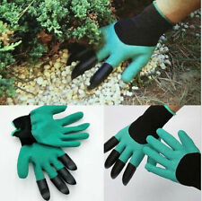 Fresh Garden Genie Gloves For Digging & Planting w/4 ABS Plastic Claws Gardening