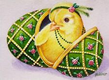 40% OFF SALE! ACEO Limited Edition Print Easter Faberge' Inspired Egg Chick No 4