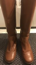 L.L. Bean Women's Size 10 M Brown Leather Tall Side Zip Boots