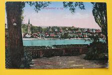 AK Pfaffendorf a Rhein 1910-20 Ortsansicht Häuser Gebäude Kirche Rheinufer  RP13