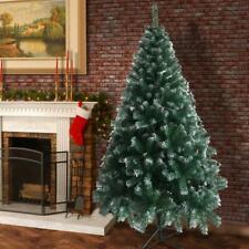 6FT Artificial Christmas Tree  Green White Fir tree w Base Home Decor