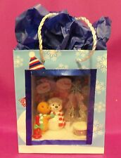 Dollhouse Miniature 1:12 Scale Snowman Scenario (Roombox) in a Gift Bag