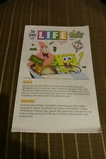 The Game of Life Board Game Sponge Bob Edition Manual Booklet Replacement