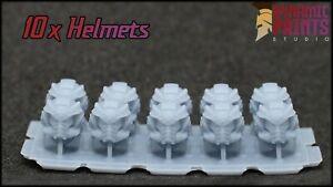 10x Custom Black Templars Champion Helmets - Warhammer 40k space marine MK10