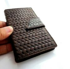 Genuine Leather Case for Samsung Galaxy Note 3 Book Wallet Closure Cover Slim uk