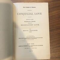 EMANUEL SWEDENBORG vtg book - Conjugial Love 1905 - DAMAGED RARE
