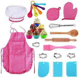 Kids Baking Set Best Gifts for 3-8 Year Old Girls Boys - 25 Piece,