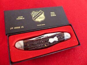 John Primble India Steel USA JP 4986 IS sowbelly bone mint in box knife ld