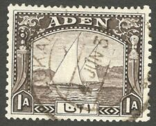 AOP Aden 1937 1a Dhow used MUKALLA