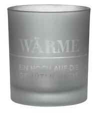 Zuhause Lichtglas WÄRME Glas matt blaugrün Teelichglas Kerzenschein räder Design