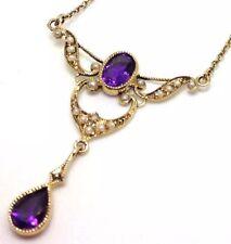 Pearl Natural Amethyst Fine Necklaces & Pendants