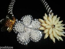 Statement Necklace Rhinestone Crystal Floral Rope Choker Holiday Party Chic Cute