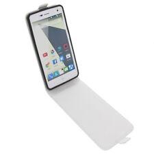 Funda para ZTE Blade L3 protectora Teléfono Móvil con tapa blanco