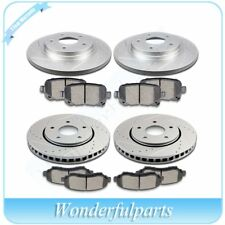 Front Rear Brake Rotors Ceramic Pads Kit For 2008 - 2012 Chrysler Town & Country
