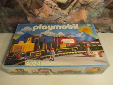 (GO) 4024 Güterzug 2 x Güterwagen + Diesellokomotive + 12 LGB Gleise OVP