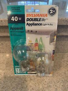 2 Appliance Light Bulb Ceiling Fan Double Life Oven Refrigerator 40W Watt A15