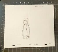 KING OF THE HILL CARTOON ANIMATION ART PENCIL CEL DRAWING HANK'S PROFILE