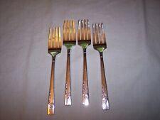 Set of 4 Oneida Nobility Silverplate 1937 CAPRICE Salad Forks