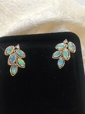 Black Opal And Diamond Cluster Earrings New listing