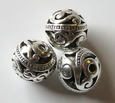 30pcs 12mm Round Metal Alloy Spacer Beads - Antique Silver #3