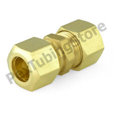 """(25) 3/8"""" x 3/8"""" OD Tube (Lead-Free) Brass Compression Union Fittings"""