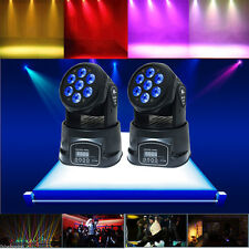 2PCS RGBW 70W 7 LED Moving Head Stage Lighting DMX-512 DJ Club Disco Party Light