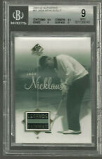 2002 SP Authentic #51 Jack Nicklaus Golf Card BGS 9 9.5 X 2  MINT