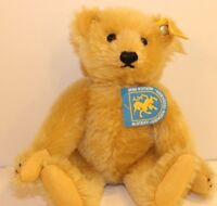 Steiff 0168/22 9 inch Mohair Blonde Bear Jointed ear tag button paper tag KA