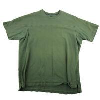 Duluth Trading Co Mens T-Shirt Green Short Sleeve Crewneck 100% Cotton Size 2XL