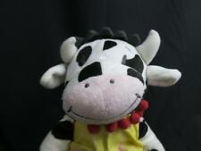 IKEA BLACK-AND-WHITE COW FABLER KO RED WHITE POLKADOT YELLOW OUTFIT PLUSH 15""