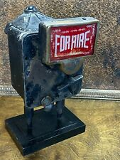 Vintage Early Early TAXI CAB FARE METER ~ FOR HIRE BOX /  Rupee / Streampunk