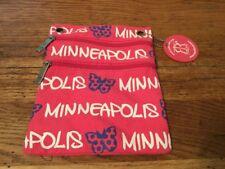 Robin Ruth Pink Crossbody Bag Minneapolis Minnesota Butterfly Zipper Blue White