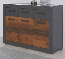 Kommode Sideboard Used Wood und grau Wohnzimmer Esszimmer Anrichte Vintage Indy