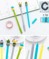 6Pcs Lovely Cute Botany Plant Cactus Gel ink Ball Pens Office School Stationery