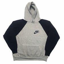 Vintage 70s Nike Hooded Sweatshirt 2 Tone Gray Navy Made In USA 1970s Hoodie